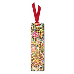Multicolored Retro Spots Polka Dots Pattern Small Book Marks by EDDArt