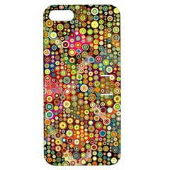 Multicolored Retro Spots Polka Dots Pattern Apple Iphone 5 Hardshell Case With Stand by EDDArt