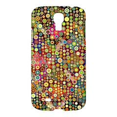 Multicolored Retro Spots Polka Dots Pattern Samsung Galaxy S4 I9500/i9505 Hardshell Case by EDDArt