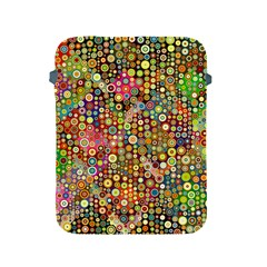 Multicolored Retro Spots Polka Dots Pattern Apple Ipad 2/3/4 Protective Soft Cases by EDDArt