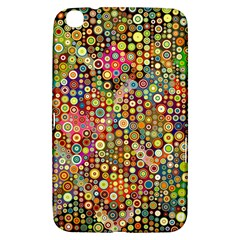 Multicolored Retro Spots Polka Dots Pattern Samsung Galaxy Tab 3 (8 ) T3100 Hardshell Case  by EDDArt