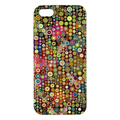 Multicolored Retro Spots Polka Dots Pattern Iphone 5s/ Se Premium Hardshell Case by EDDArt