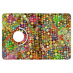Multicolored Retro Spots Polka Dots Pattern Kindle Fire Hdx Flip 360 Case by EDDArt