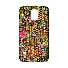 Multicolored Retro Spots Polka Dots Pattern Samsung Galaxy S5 Hardshell Case  by EDDArt