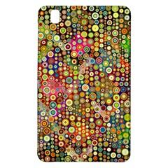Multicolored Retro Spots Polka Dots Pattern Samsung Galaxy Tab Pro 8 4 Hardshell Case by EDDArt