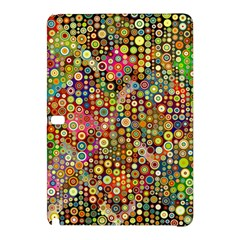 Multicolored Retro Spots Polka Dots Pattern Samsung Galaxy Tab Pro 12 2 Hardshell Case by EDDArt