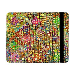 Multicolored Retro Spots Polka Dots Pattern Samsung Galaxy Tab Pro 8 4  Flip Case by EDDArt