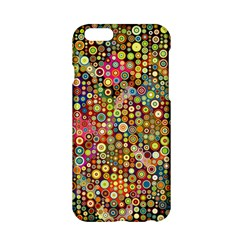 Multicolored Retro Spots Polka Dots Pattern Apple Iphone 6/6s Hardshell Case by EDDArt