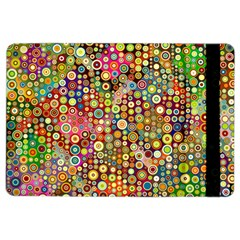 Multicolored Retro Spots Polka Dots Pattern Ipad Air 2 Flip by EDDArt