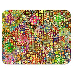 Multicolored Retro Spots Polka Dots Pattern Double Sided Flano Blanket (medium)  by EDDArt