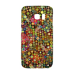 Multicolored Retro Spots Polka Dots Pattern Galaxy S6 Edge by EDDArt