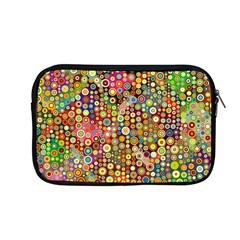 Multicolored Retro Spots Polka Dots Pattern Apple Macbook Pro 13  Zipper Case by EDDArt