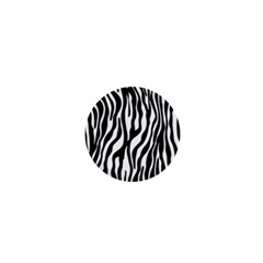 Zebra Stripes Pattern Traditional Colors Black White 1  Mini Buttons by EDDArt