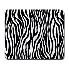Zebra Stripes Pattern Traditional Colors Black White Large Mousepads by EDDArt