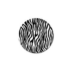 Zebra Stripes Pattern Traditional Colors Black White Golf Ball Marker (10 Pack) by EDDArt