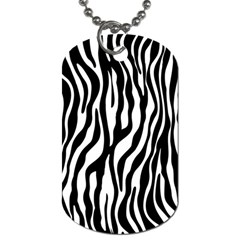 Zebra Stripes Pattern Traditional Colors Black White Dog Tag (two Sides) by EDDArt