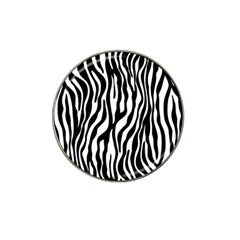 Zebra Stripes Pattern Traditional Colors Black White Hat Clip Ball Marker by EDDArt