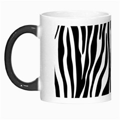 Zebra Stripes Pattern Traditional Colors Black White Morph Mugs by EDDArt