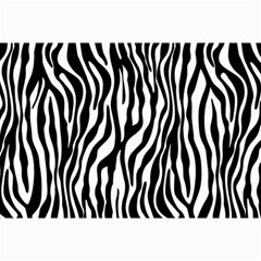 Zebra Stripes Pattern Traditional Colors Black White Canvas 24  X 36  by EDDArt