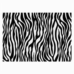 Zebra Stripes Pattern Traditional Colors Black White Large Glasses Cloth by EDDArt