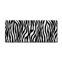 Zebra Stripes Pattern Traditional Colors Black White Cosmetic Storage Cases by EDDArt