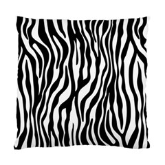 Zebra Stripes Pattern Traditional Colors Black White Standard Cushion Case (two Sides) by EDDArt
