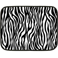 Zebra Stripes Pattern Traditional Colors Black White Fleece Blanket (mini) by EDDArt