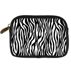 Zebra Stripes Pattern Traditional Colors Black White Digital Camera Cases by EDDArt