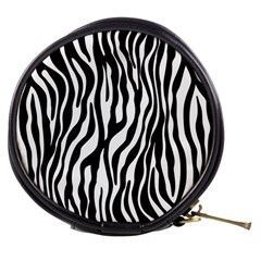 Zebra Stripes Pattern Traditional Colors Black White Mini Makeup Bags by EDDArt