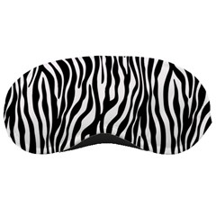 Zebra Stripes Pattern Traditional Colors Black White Sleeping Masks by EDDArt
