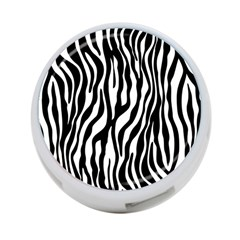 Zebra Stripes Pattern Traditional Colors Black White 4 Port Usb Hub (one Side) by EDDArt
