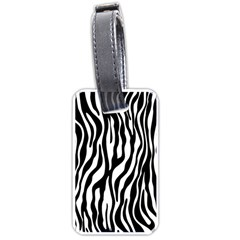 Zebra Stripes Pattern Traditional Colors Black White Luggage Tags (two Sides) by EDDArt