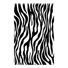 Zebra Stripes Pattern Traditional Colors Black White Shower Curtain 48  X 72  (small)  by EDDArt