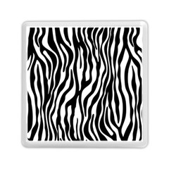 Zebra Stripes Pattern Traditional Colors Black White Memory Card Reader (square)  by EDDArt