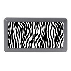 Zebra Stripes Pattern Traditional Colors Black White Memory Card Reader (mini) by EDDArt