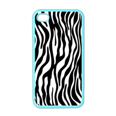 Zebra Stripes Pattern Traditional Colors Black White Apple Iphone 4 Case (color) by EDDArt