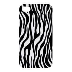 Zebra Stripes Pattern Traditional Colors Black White Apple Iphone 4/4s Premium Hardshell Case by EDDArt