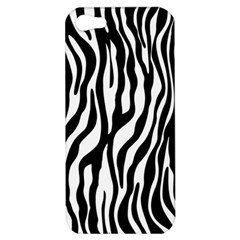 Zebra Stripes Pattern Traditional Colors Black White Apple Iphone 5 Hardshell Case by EDDArt