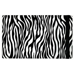 Zebra Stripes Pattern Traditional Colors Black White Apple Ipad 2 Flip Case by EDDArt