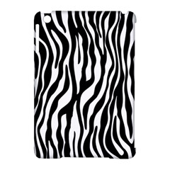 Zebra Stripes Pattern Traditional Colors Black White Apple Ipad Mini Hardshell Case (compatible With Smart Cover) by EDDArt