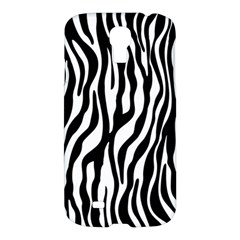 Zebra Stripes Pattern Traditional Colors Black White Samsung Galaxy S4 I9500/i9505 Hardshell Case by EDDArt