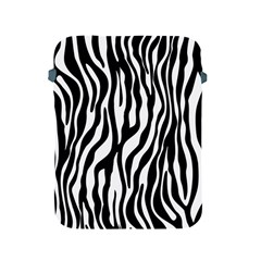 Zebra Stripes Pattern Traditional Colors Black White Apple Ipad 2/3/4 Protective Soft Cases by EDDArt
