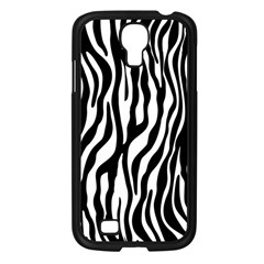 Zebra Stripes Pattern Traditional Colors Black White Samsung Galaxy S4 I9500/ I9505 Case (black) by EDDArt