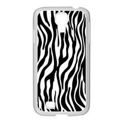 Zebra Stripes Pattern Traditional Colors Black White Samsung Galaxy S4 I9500/ I9505 Case (white) by EDDArt