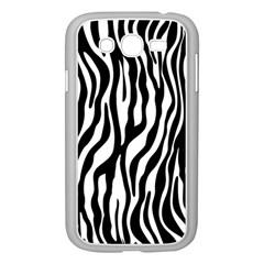 Zebra Stripes Pattern Traditional Colors Black White Samsung Galaxy Grand Duos I9082 Case (white) by EDDArt