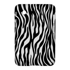Zebra Stripes Pattern Traditional Colors Black White Samsung Galaxy Tab 2 (7 ) P3100 Hardshell Case  by EDDArt
