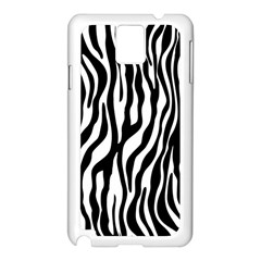 Zebra Stripes Pattern Traditional Colors Black White Samsung Galaxy Note 3 N9005 Case (white) by EDDArt
