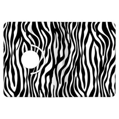 Zebra Stripes Pattern Traditional Colors Black White Kindle Fire Hdx Flip 360 Case by EDDArt