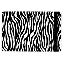 Zebra Stripes Pattern Traditional Colors Black White Ipad Air Flip by EDDArt