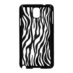 Zebra Stripes Pattern Traditional Colors Black White Samsung Galaxy Note 3 Neo Hardshell Case (black) by EDDArt